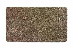 muddle mat tapis de couloir antipoussi re ultra absorbant motif ray caf 66 x 120 cm. Black Bedroom Furniture Sets. Home Design Ideas