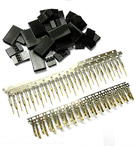 BSP RC Futaba Set Male and Female Servo Connector Plug Gold Plated x 10