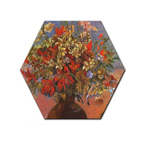 bilderdepot24-cuadros-en-lienzo-paul-gauguin-viejos-maestros-flores-y-gatos-6-angular-50-cm-listo-te