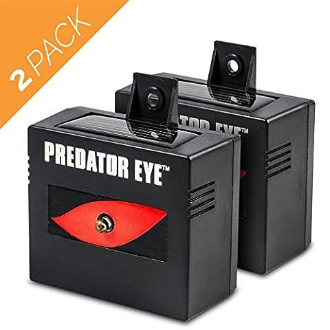 Aspectek Predator Eye Night Time Solar Powered Animal Control Repeller - 2 Pack, Waterproof, Pest Control, Nocturnal Animals,