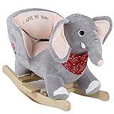 BabyGo Rocker Schaukeltier Elefant - Schaukelelefant Elephant ab 6 Monaten
