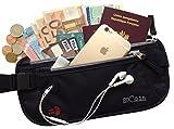 Ceinture Portefeuille RFID - Pochette Sécurisée de Voyage avec Protection anti pickpocket éléctronique - Sac Banane discret pour cacher Passeport,...