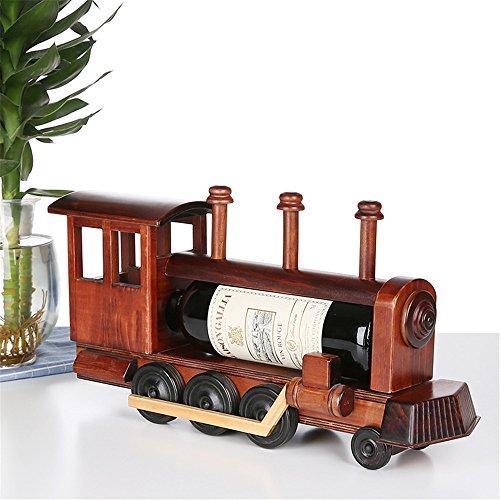 LL-COEUR Holz Zug Weinflaschenhalter Dekoration Weinregal Kreative Weinständer Handwerk Wein-Rahmen Weihnachten