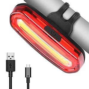 51b 857waoL. SS300 Luce Posteriore, USB Ricaricabile per Bicicletta, LED Bicicletta Fanale Posteriore Bici 6 Modalità di Luce, Resistente…
