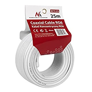 Maclean MCTV-574 Sat-Antennenkabel 25m Koaxialkabel RG6 1.0CSS Sat Kabel