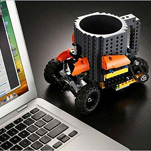 Building Brick Mug, Pixelblocks Tasse, Lego Tasse, DIY Brick Tasse Building Blocks Kaffeetasse Puzzle-Becher - 3
