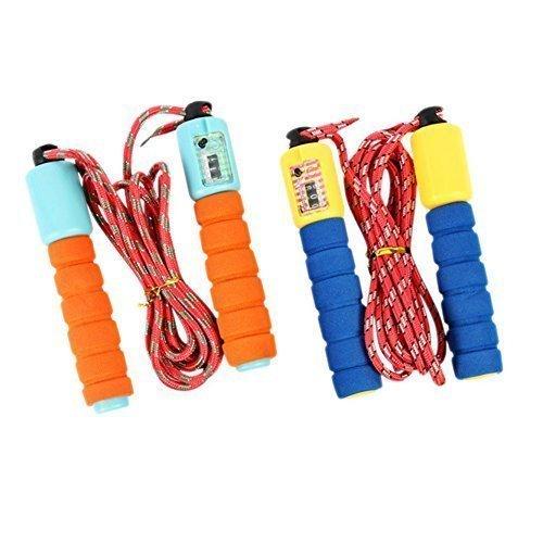 Springseil Leicht Geschwindigkeit Seil mit Zähler Bequem Lenker 2 stück Fitness Training ausrüstung (9 Stück-zähler)