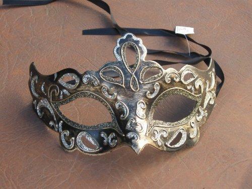 veneciano-mascarada-partido-la-mascara-del-ojo-negro-plata-y-oro