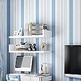 Wallpaper Wasserdichte Tapete selbstklebende Wandbild Enzyklopädie Tapete Mädchen Schlafzimmer Zimmer frische Tapete (0,53x3m) (Color : Blue)