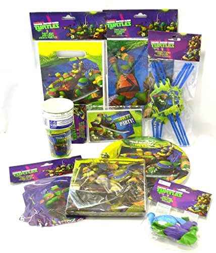 Teenage Mutant Ninja Turtles Party-Set, 64-teilig, Geburtstag, Party