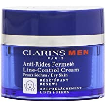 Clarins Men - Line-Control Cream - Crema antiarrugas y firmeza para pieles secas - 50 ml
