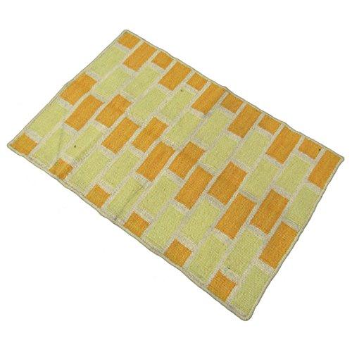 Indian handgefertigte Jute Baumwolle Teppich Rag Bodenführung Mat Teppich gewebt Dari Werfen 36