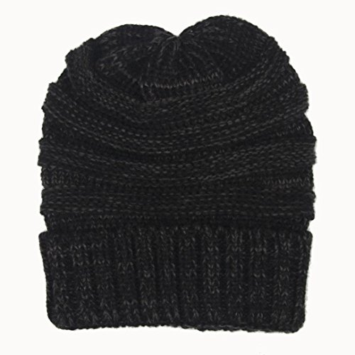 Bonnets, Tonsee Unisexe Slouchy Beanie Knitting Hip Hop Cap Ski Hiver chaud Hat Gris