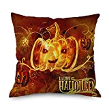 SJWSJW Halloween Felice Main Pillowcase Pumpkin A Tema in N. Cotone Cuscino Ringraziamento Decorazione Decorazione Cuscino Divano 18 X 18 Cuscino da Linea 45 x 45CM 60092-2