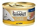 Gourmet Gold Katzenfutter Feine Pastete mit Leber