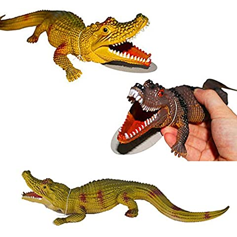 CYNDIE Plastic Crocodile Toy Squeeze Squawking Vent Toys Alligator Spoof