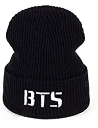 ca230c8a71d Amknn Kpop BTS Knitted Beanie Bangtan Boys Unisex Warm Hat