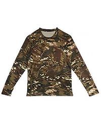 Camisetas de manga larga de camuflaje para hombres c476e28c71b70