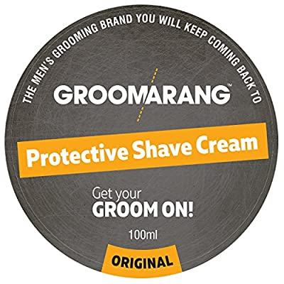 Groomarang Protective Shave Cream For Men - A Luxurious, Close Shave That Leaves Your Skin Feeling Soft, Smooth & Refreshed - 100% Natural Face Skin Care Natural & Organic