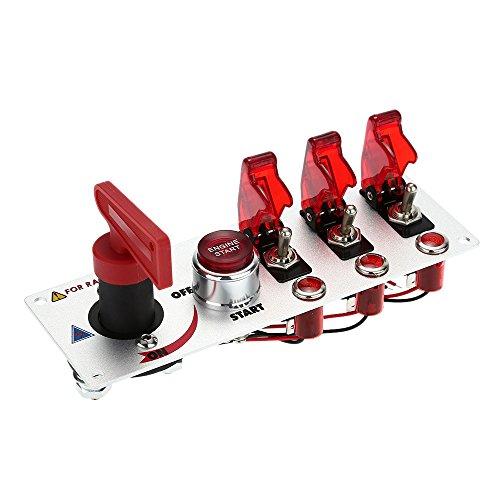 KKmoon - Panneau de démarrage pour voiture de course avec indicateur LED rouge