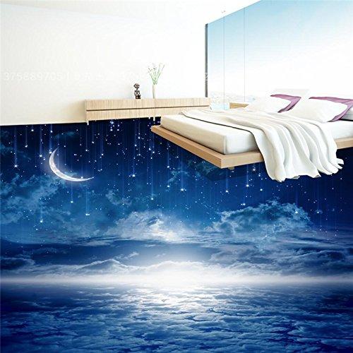 Preisvergleich Produktbild Wapel Custom Photo 3D Wearable Pvc Bodenbeläge Traum Nachthimmel Romantisches Thema Zimmer 3D 3D Fliesen Malerei 430 Cmx 300Cm