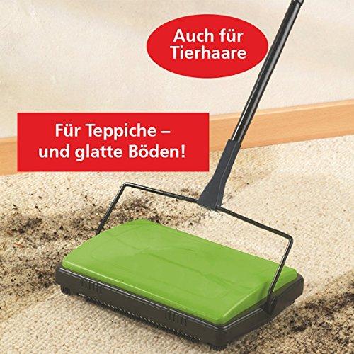 WENKO, Teppichkehrer, Grün, (B x H x T): 28 x 105 x 19 cm