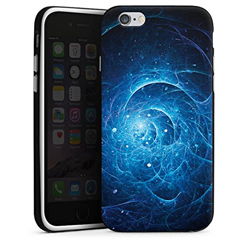 Apple iPhone X Silikon Hülle Case Schutzhülle Strom Galaxie Licht Silikon Case schwarz / weiß