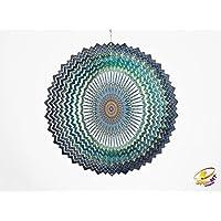 Spin Art Premium Mandala espacio Multicolour Gira con el viento (30,5cm)