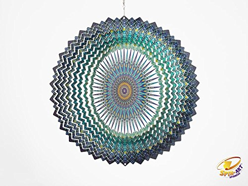Spin Art Premium Mandala Platz-Wind Spinner (12Zoll)