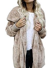 Amlaiworld Sweatshirts Winter Mode Kunstpelz Flauschig Strickjacke Damen  Locker Plüsch Kapuzenpulli Weich… ea595f5389