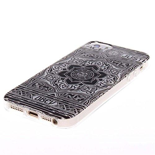 iPhone 5 5S SE Custodia Slim Leggero Flessibile TPU Immagine Leone Case per Apple iPhone 5 5S SE 5G Nero color8