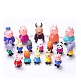 New 20 Pcs Peppa Pig Different Best Model Figure Toys For Kids