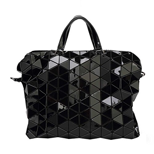 Ladies Handbag Borsa Trend Geometrica Lattice Briefcase Shoulder Bag Black