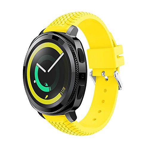 Gosuper para Samsung SM-R600 Gear Sport Correa,20mm Ancho Silicona suave deporte Rápido Lanzamiento Replacement Bracelet para Samsung Gear S2 Classic Smart Watch 20mm/Huawei Watch 2 Sport Version