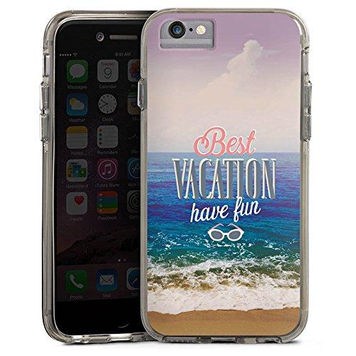 Apple iPhone 6 Plus Bumper Hülle Bumper Case Glitzer Hülle Urlaub Mer Ocean Bumper Case transparent grau