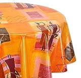 Wachstuchtischdecke glatt abwischbar OVAL RUND ECKIG, Wachstuch Garten Tischdecke, Größe und Motiv wählbar (Rund 140 cm, Afrika)