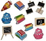 Unbekannt 3-D Figur Schultafel / Kreidetafel - z.B. als Platzkarte / Tischkarte / Namenskärtchen als Tischdeko aus Holz - zur Schuleinführung Einschulung Schulanfang