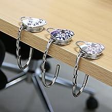 Gazechimp Porzellan Taschenhalter Handtasche Geldbeutel Tisch Haken Halter Damen Geschenk - Grau