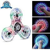 Fidget Spinner Quimat Zappeln Spinner Hand Spinner LED Leuchten Finger Spielzeug EDC 216 Modi blinken Perfekt Kind nach hilft Anti-angst Fokussierung Langeweile Druckreduzierer