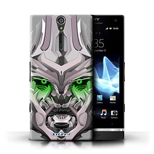Kobalt® Imprimé Etui / Coque pour Sony Xperia S/LT26i / Bumble-Bot Vert conception / Série Robots Mega-Bot Vert