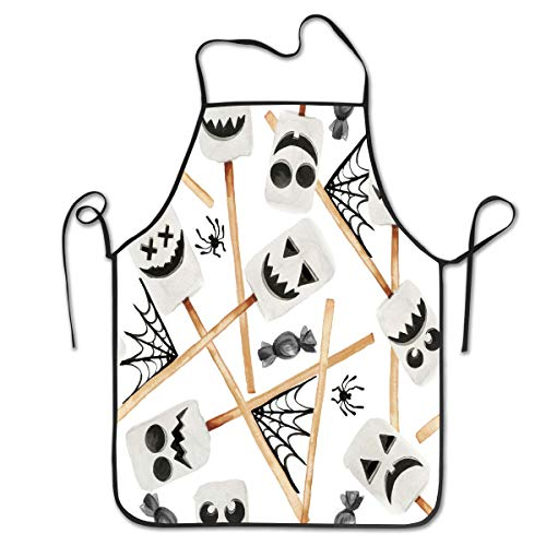 hosts Cotton Chef Kitchen Aprons with Cooking for Women Men Adjustable Bib Waterdrop Resistant 28.3x20.4Inchs ()