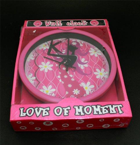 Uhr Wand Kinder Wandbild Love Pink Design Kinder Schlafzimmer Dekor Stunde