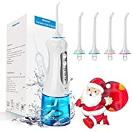 morpilot Water Flosser for Teeth,Dental Floss with 4 Jet Nozzles and 200ml Reservoir,IPX7 Waterproof USB Rechargeable 3 Water Pressure and FDA Approved