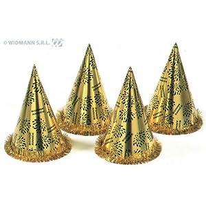 WIDMANN LIBROLANDIA 7973D Cappello Cono BONNE ANN?E Oro con FRANGIA