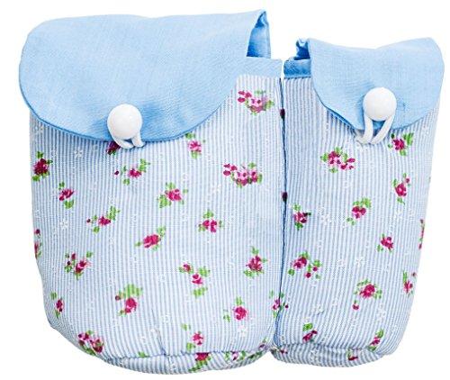 Distributeur de cotons tiges Stockage pour cotons tiges et tampons pour le voyage coton bleu blanc 12 x 14,5 cm Ringelsuse
