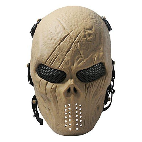 ADOO Ghost Skull Airsoft Paintball Maske militärischen Schutz voller Halloween (Militärische Halloween)