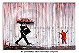 Laminated Posters Banksy-Rainbow Rain Happy Girl-Affiche Papier-Dimensions: 59,7x 41,9cm (59.4x 42cm)