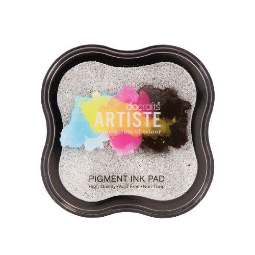Artiste DOA 550111 - Almohadilla de tinta para sello, color gris metálico