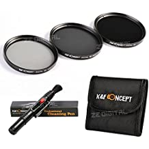K&F Concept 52mm ND2 ND4 ND8 Filtro Kit de Accessorios de Lente Densidad Neutra Filtro para Nikon D5300 D5200 D5100 D3300 D3200 D3100 DSLR Cámaras + Pluma de Limpieza + Bolsa de Filtro