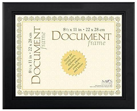 Cadre pour document Noir 22x28cm